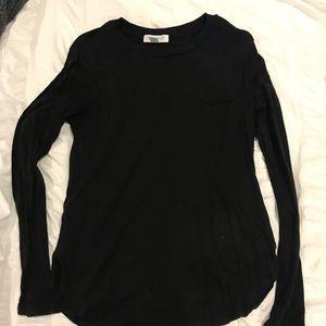 Black long sleeve pocket shirt forever 21